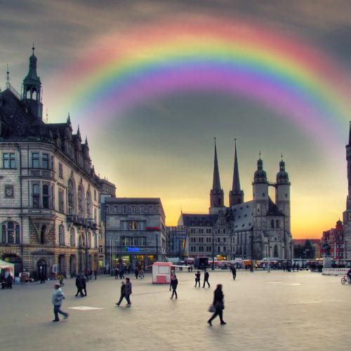 Unser Regenbogenempfang